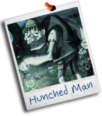 Hunched man